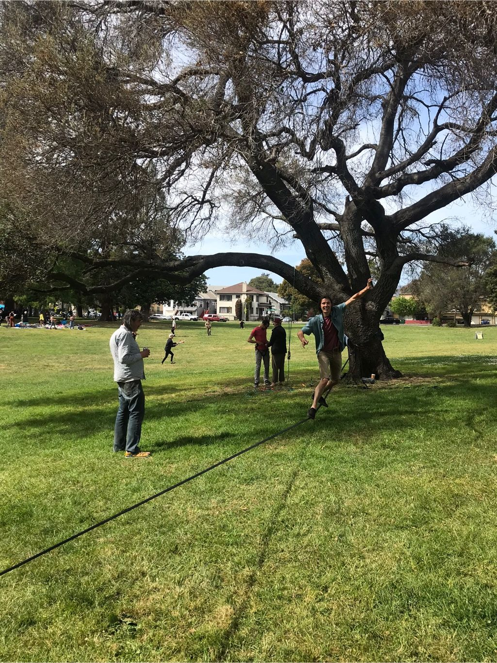 Grant on the slackline